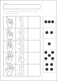 Cutting Worksheets Preschool Ordinal Number Posters And Worksheets ...