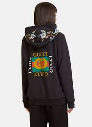 gucci zip up jacket. gucci embroidered \u0026 printed zip-up sweatshirt, black gucci zip up jacket