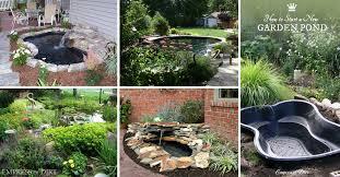 garden pond ideas. Contemporary Garden 20 Innovative DIY Pond Ideas Letting You Build A Water Feature From Scratch In Garden L