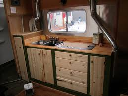 Camper Trailer Kitchen Designs Pop Up Campers With Bathroom Facilities Tiny Trailer Wet Afdbc B
