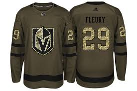 Golden To Camo Marc-andre 29 Jersey Salute Service Adidas Fleury 2018 Knights