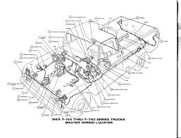 auto wiring diagram 1964 ford f 100 thru f 750 truck master this is master wiring locator for 1964 ford f100 trough f750 series truck