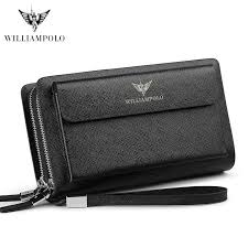 <b>WilliamPOLO</b> Leather Vintage Solid Clutch Bag Phone Cases <b>Brand</b> ...