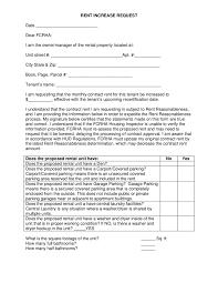Sample Of Rent Increase Letter Rent Increase Request Letter Sample Edit Fill Sign