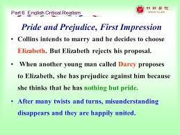 english and american literature selected readings ppt pride and prejudice first impression