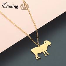 whole qiming personalized sheep pendant goat necklace farm jewelry cute funny birthday gift tibetan silver animal necklaces necklaces choker necklace