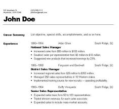 null chronological resume formats for resumes