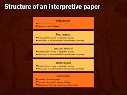 writing an interpretive essay thesis and structure  writing an interpretive essay 1 thesis and structure