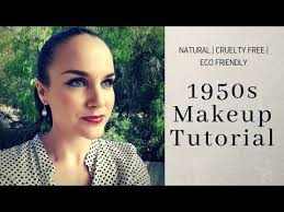 eco makeup tutorial 1950s hollywood glam amy sumner naturopath eco makeup artist