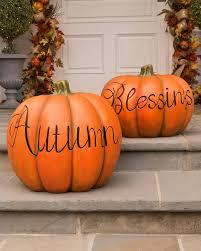 ... Autumn Blessings Decorative Pumpkins, Set of 2 Alt ...