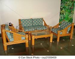 furniture made of bamboo. Furniture Made Up Of Bamboo - Csp21059409