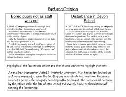 Newspaper articles should be objective, factual, accurate and balanced. Bias Fact And Opinion Teaching Resources