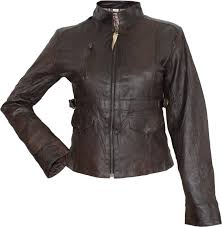las leather jacket fashion lamb nappa leather colour brown image 3