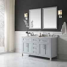 freestanding bathroom vanity. Ove Decors Tahoe 60 In. X 21 34.5 Dove Grey Freestanding Bathroom Vanity With Assorted Mirror | The Home Depot Canada