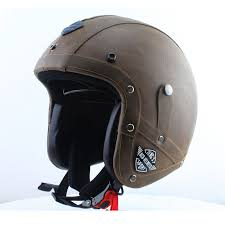 hot men vintage motorcycle helmets open face leather helmet retro pilot cruiser helmets black brown dot approved in on alibaba com