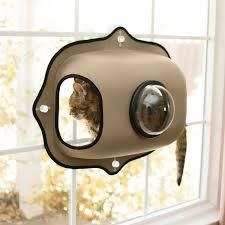 Cat House Kh Pet Products Ez Mount Window Bubble Pod Cat House Tan Chewycom