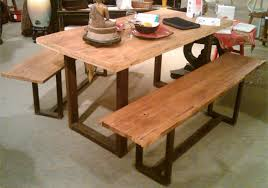 reclaimed wood and metal furniture. reclaimed wood and aged metal dining bench furniture m
