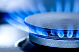 stove flame. stove top flame a