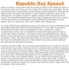 republic day speech in english for students happy republic day english speech 2016