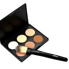 6 colors pro make face powder contour concealer palette make up studio fix shading mineral pressed