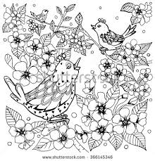 Small Picture EkaCs Adult coloring pages birds flowers mandala designs