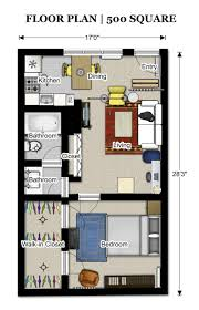 500 Square Feet Apartment Floor Plan Home Design Great Lovely