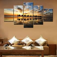 Artwork for office walls Modern Office Animals Wall Art Canvas Prints Sunset Camel Landscape Canvas Painting For Office Wall Decor Poster Artwork Home Decor Wholesale The Hathor Legacy Animals Wall Art Canvas Prints Sunset Camel Landscape Canvas