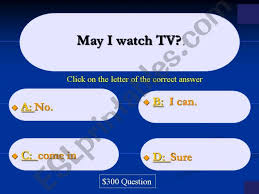 Esl English Powerpoints Who Wants To Be A Millionaire