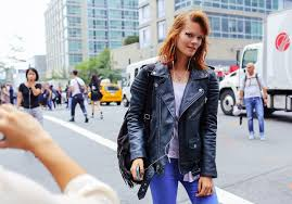 the best leather jacket street style and where you ll find your new favorite biker vogue