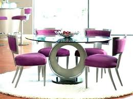 modern round dining table for 6 room sets set 4 on modern round dining