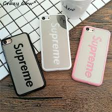 mirror phone case. luxury brand mirror supreme mobile phone case for apple iphone 5 5s se 6 6s