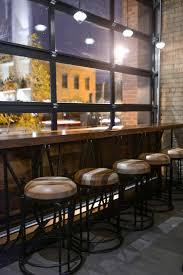 HGTV showcases this industrial chic restaurant with a garage door