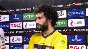 """لقاء حاص مع """" باسم مرسي"""" لاعب الإنتاج الحربي عقب التعادل مع نادي الزمالك في  الدوري - YouTube"""