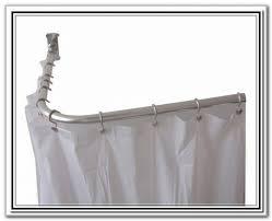 l shaped curtain rod home depot