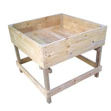 large wooden planter boxes from gardenstuff