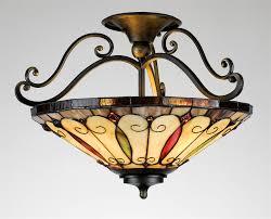 quoizel felice traditional tiffany semi flush mount ceiling light qz tf1040ib see details