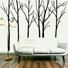 extra large black tree branches wall art mural decor sticker transfer living room bedroom background decal