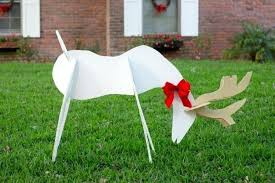 reindeer and angel wooden yard decorations on diy reindeer lawn ornam decorations wooden