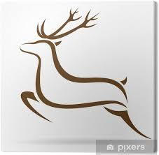 Obraz Vektorové Ilustrace Symbol Jelena Tetování Na Plátně