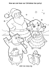 Dora Parties With Santa And Friends