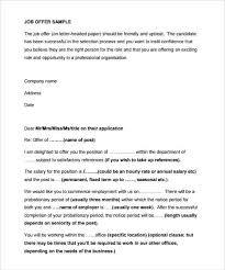 Sample Employment Offer Letter Template Job Appointment Letter Template Conceiving Me