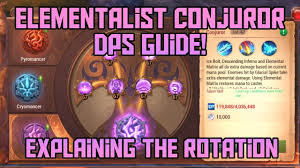 Crusaders Of Light Best Dps Elementalist Conjuror Dps Guide Skills Rotation Explanation Crusaders Of Light