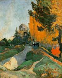 autumn paintings by famous artists paul gauguin landscape in arles near the alyscamps 1888