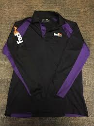 Fedex Ground Stan Herman Long Sleeve Polo Uniform Shirt Size