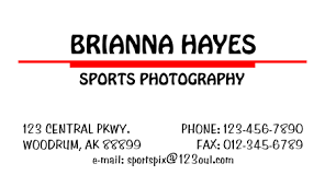 Simple Business Card Template Word Simple Business Card 2