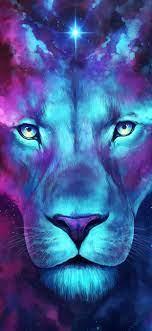 Lion painting, Lion wallpaper, Lion artwork