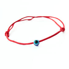 <b>Fashion</b> Small Round Evil <b>Eye Bracelet</b> Red <b>String Rope</b> Braided ...
