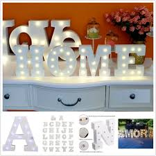 Small White Wooden Alphabet Marquee Sign With Led Light Amare Wedding
