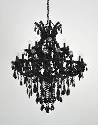creative of black glass chandelier black glass maria theresa style chandelier at 1stdibs