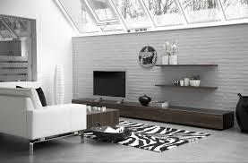 black geometric living room rug